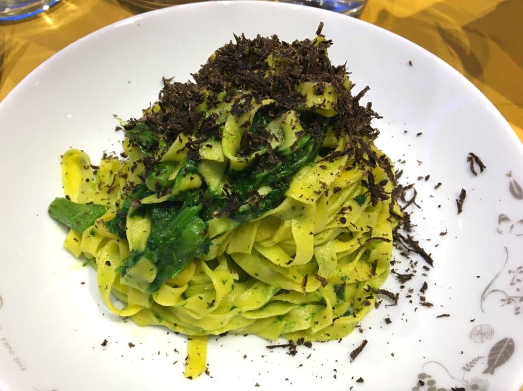 Eataly Bologna - Tagliatelle con cime di rapa e tartufo