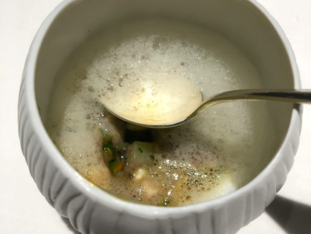 A winter ceviche in Modena Osteria Francescana
