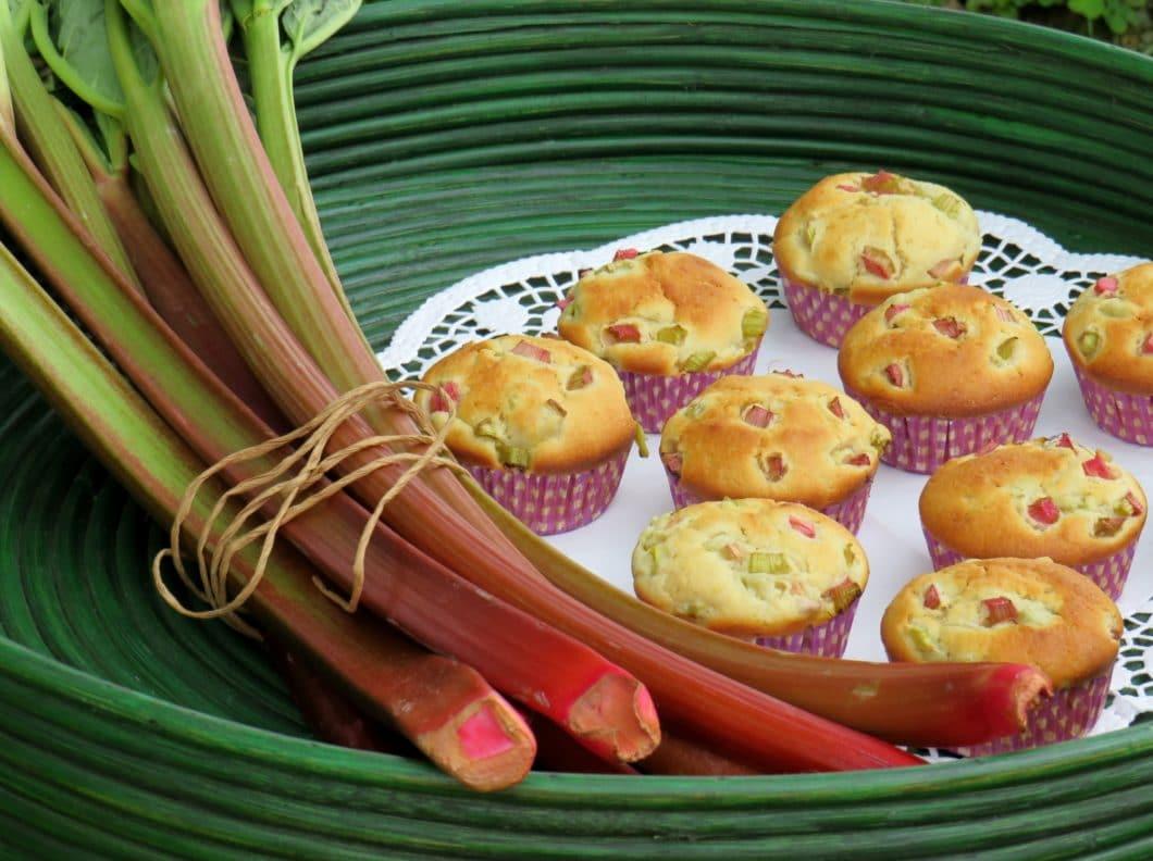 Rhabarbermuffins