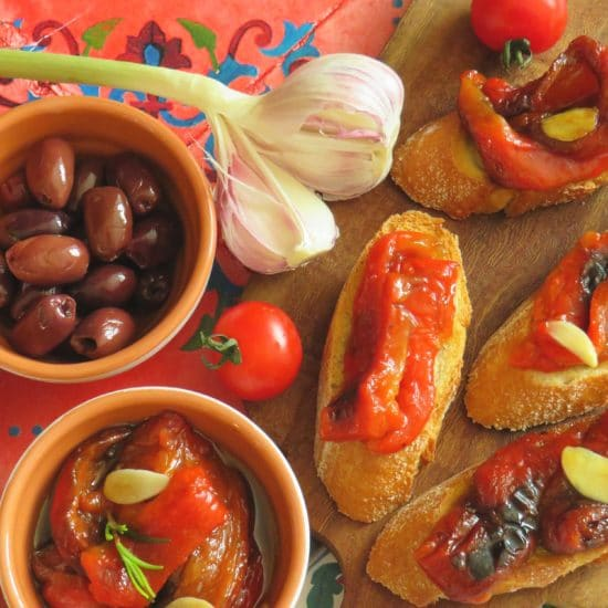 Eingelegter gegrillter Paprika