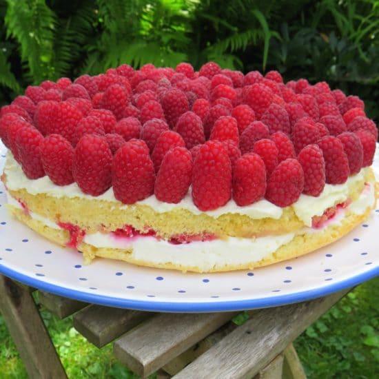 Himbeer-Ricotta-Torte