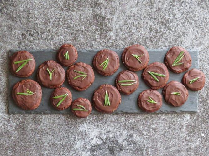 Schoko-Rosmarin-Kekse