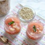 Buchweizen Porridge mit Rhabarberkompott und Leinöl