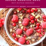 Schoko-Smoothie-Bowl genussfreudig
