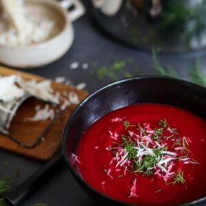Rote-Rüben-Kren Suppe