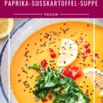 Paprika-Süßkartoffel-Suppe