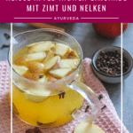 Heiße Apfel-Ingwer-Limonade mit Zimt und Nelken
