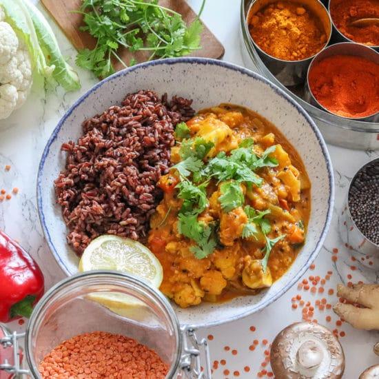 Ayurvedisches Gemüse-Linsen-Curry