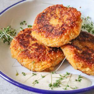 Quinoa-Süßkartoffel-Laibchen