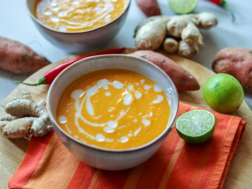 Süßkartoffel-Ingwer-Suppe genussfreudig.at