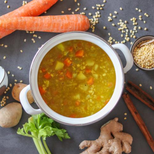 Mung Dal Suppe mit wärmenden Gewürzen